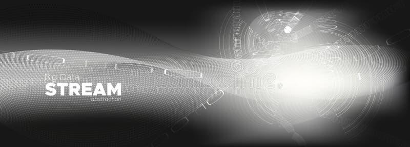 Streaming Backgrounds. Monochrome Digital vector illustration