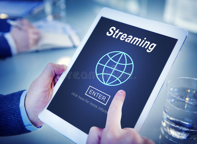 Streaming Data Internet Homepage Links Concept royalty free stock images