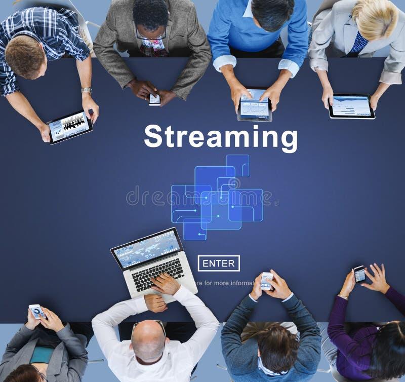 Streaming Internet Computer Media Transfer Data Concept stock photos