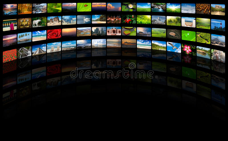 Streaming media concept royalty free stock photo
