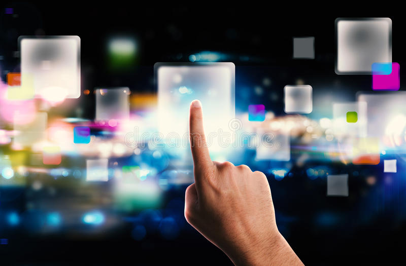 Streaming screen technology royalty free stock photography