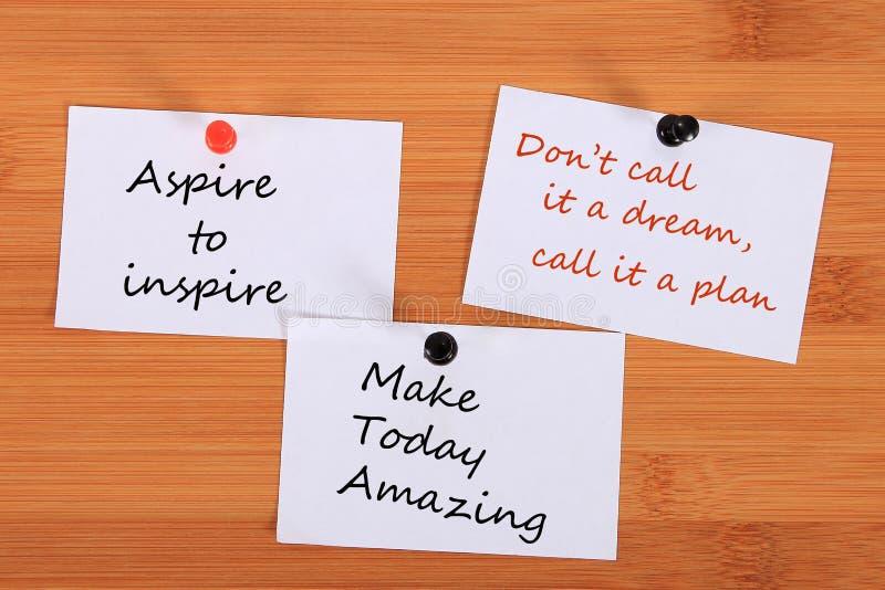 ` Streben, ` anzuspornen ` Don-` t Anruf nennt es ein Traum, ihn einen Plan ` ` machen heute überraschendes ` Merken Sie Stift vo stockfotografie