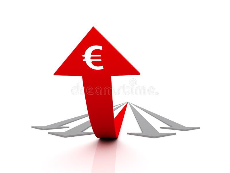 Streben Sie den Erfolg an (Euro) vektor abbildung