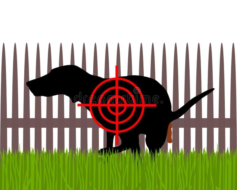 Streben Sie die scheißenden Hunde an lizenzfreie abbildung