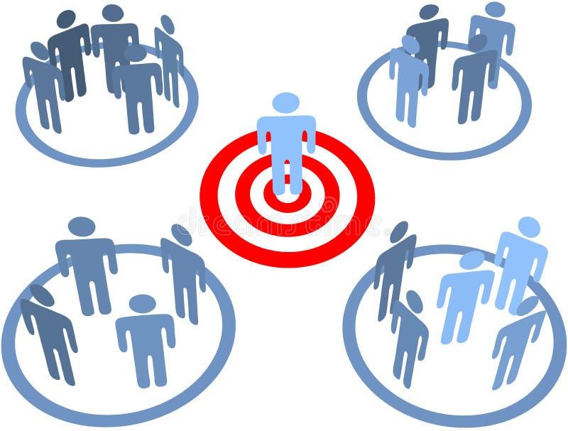 Streben Sie gerichtete Leute in den Zielmärkten an vektor abbildung