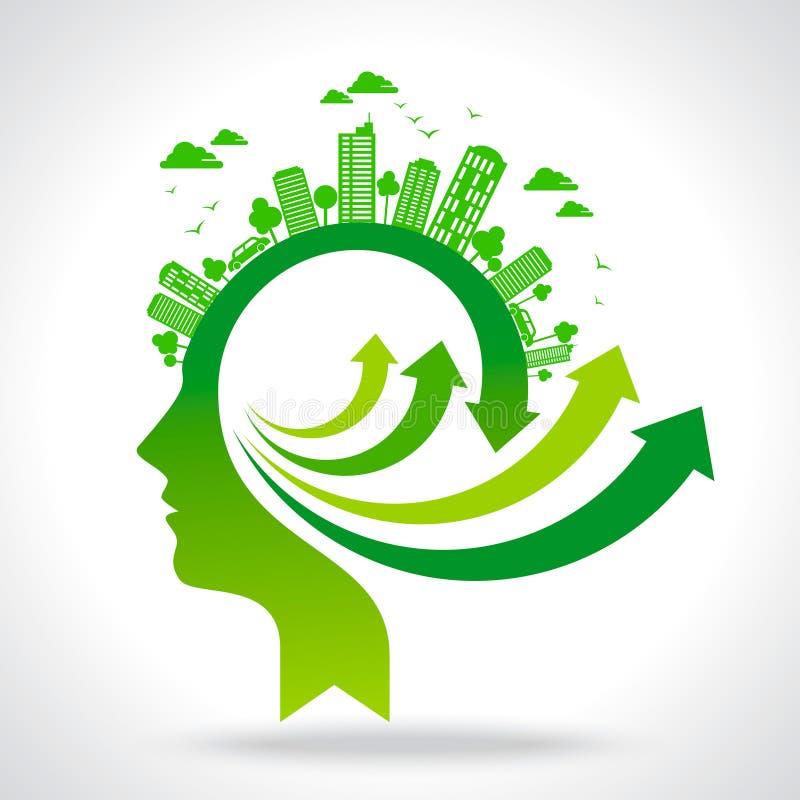 Streben Sie grünen Ideenvektor an stock abbildung