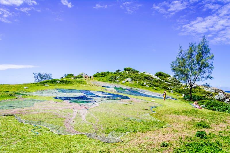 Strechedvisnet in Florianopolis, Brazilië stock afbeelding