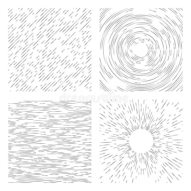 Streckad grungebakgrund Universal tillämpbar monokrom abs royaltyfri illustrationer