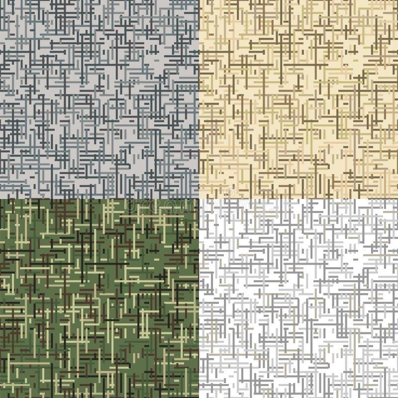 Streckad kamouflage seamless vektor för modell vektor illustrationer