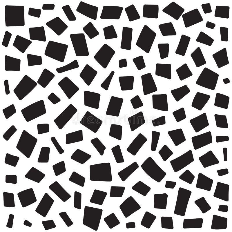 Streckad linje abstrakt sömlös modell Upprepad rektangeltextur för kortdesign för bakgrund white för affisch för ogange för svart stock illustrationer