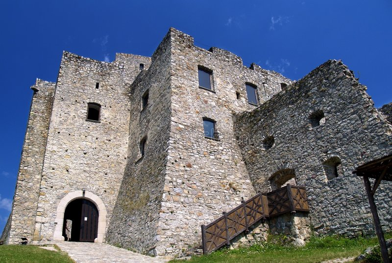 Strecno Castle Stock Images