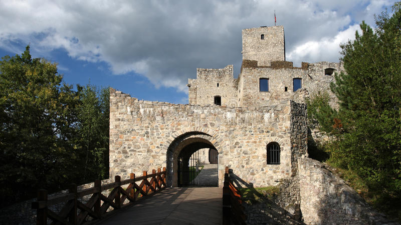 Strecno castle , Slovakia stock photo