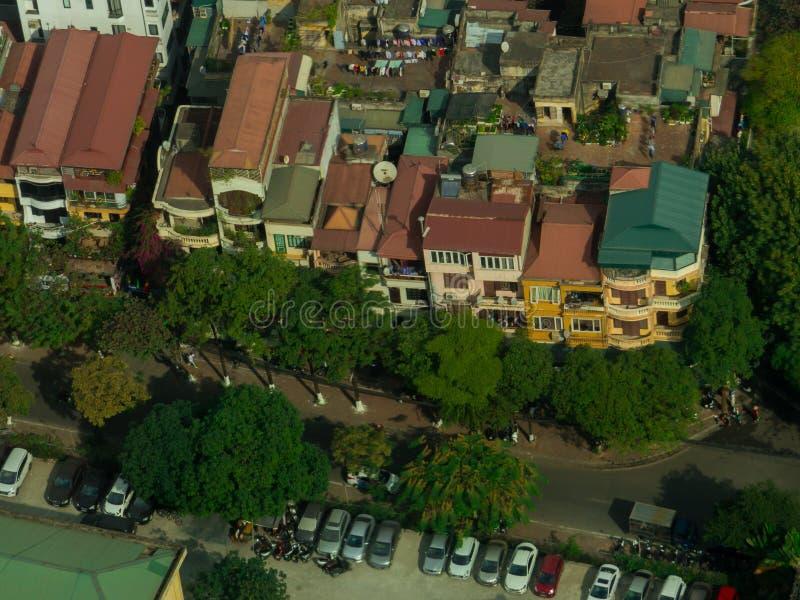 Hanoi, Vietnam. Street aerial view, Hanoi, Vietnam royalty free stock image