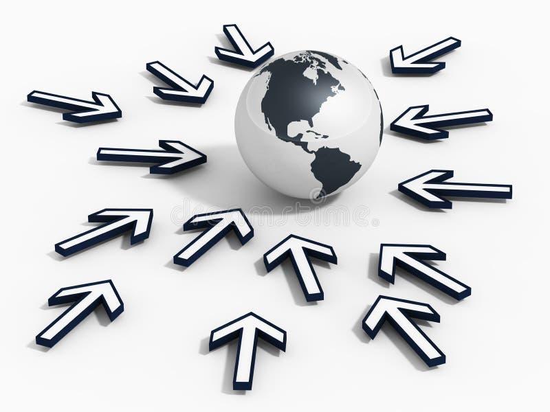 Streef naar globale kans stock illustratie