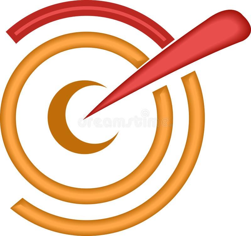 Streef punt vector illustratie