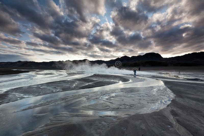 Streem geotermico fotografia stock libera da diritti