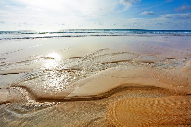 Streem na praia tropical imagem de stock