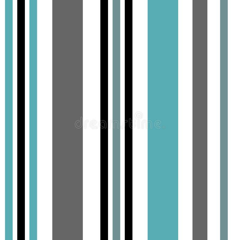 Streep naadloos patroon met blauwe en witte verticale parallelle streep De vector abstracte achtergrond van patroonstrepen vector illustratie