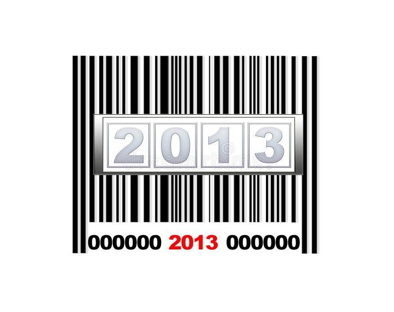 Streepjescode 2013. royalty-vrije illustratie