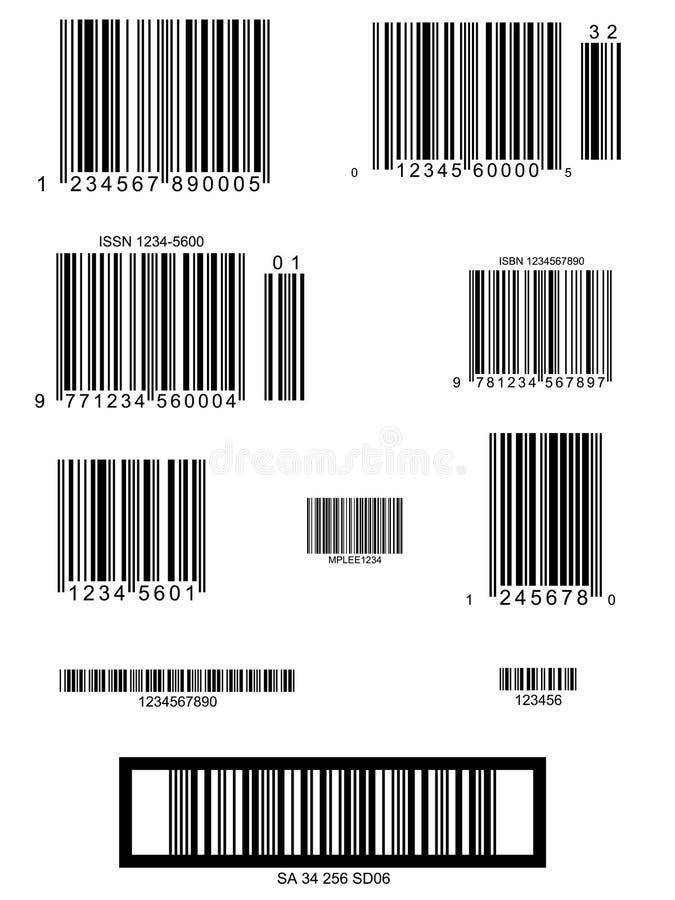 Streepjescode stock illustratie