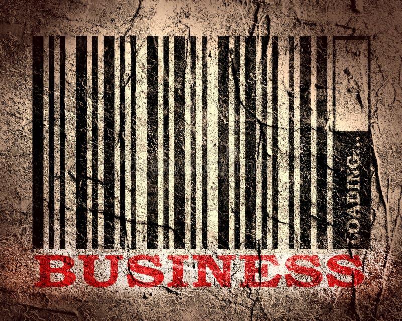 Streepjescode met bedrijfstekst en ladingsbar stock illustratie