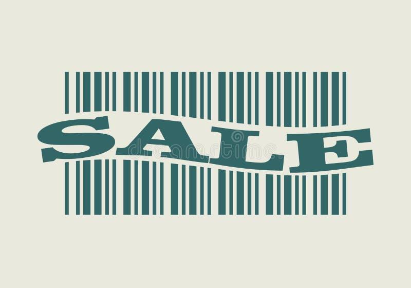 Streepjescode met verkoopwoord royalty-vrije illustratie