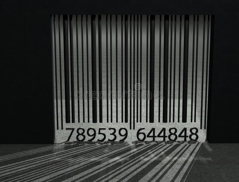 Streepjescodegevangenis vector illustratie