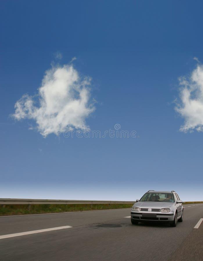 Street. With car and sky stock photos