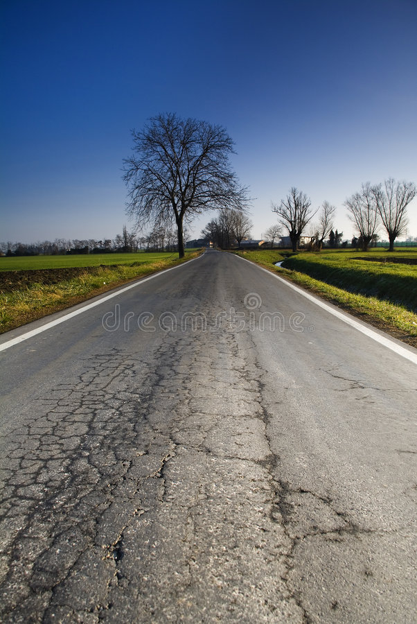 Download The street stock image. Image of country, road, straight - 1708539