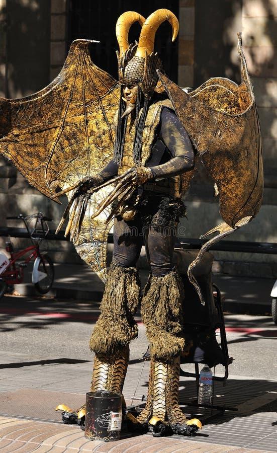 Street actor. Barcelona. royalty free stock photo