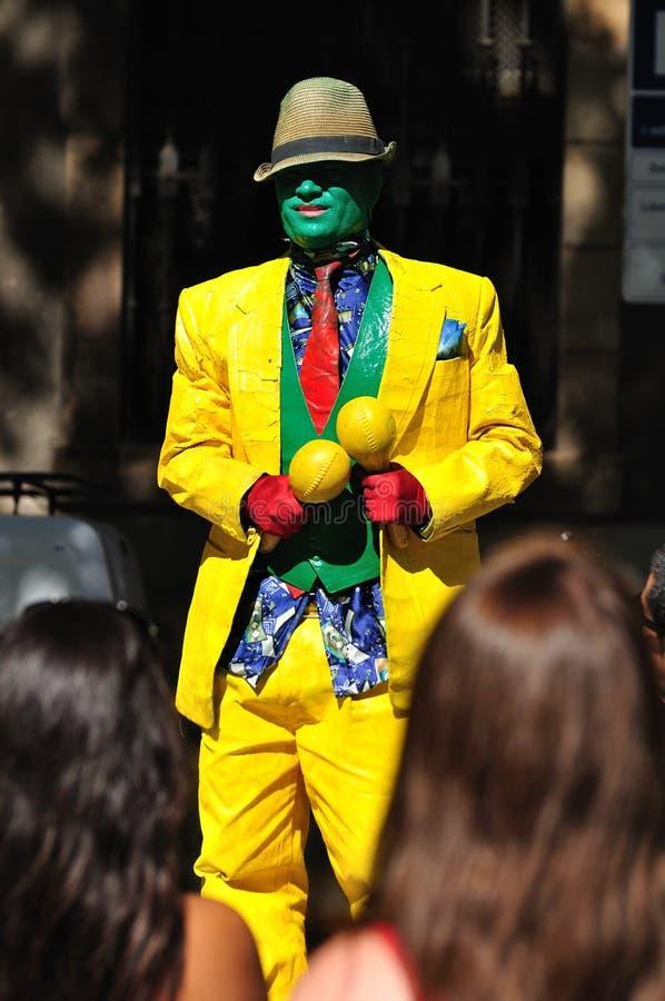 Street actor. Barcelona. stock photos