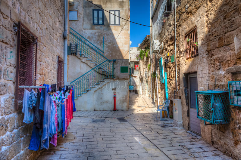 Street in Akko royalty free stock images