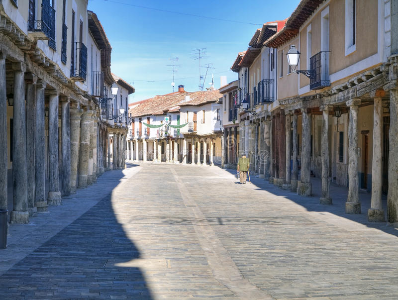 Street of ampudia royalty free stock photography