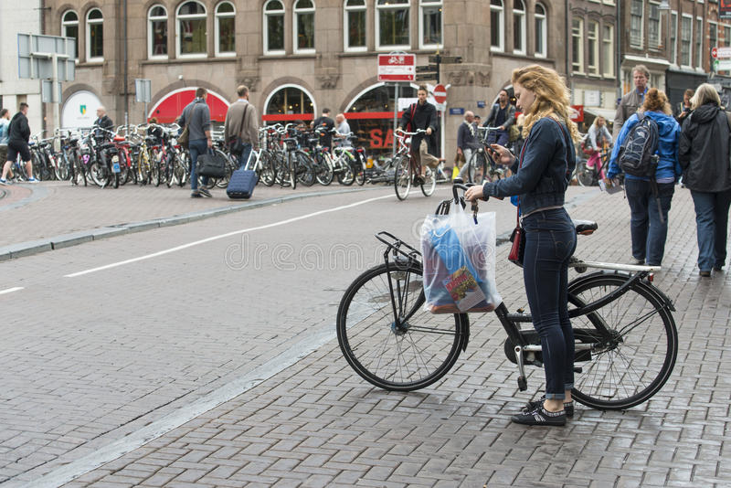 Street In Amsterdam Netherlands Editorial Photography - Image of streets,  cycling: 96282222