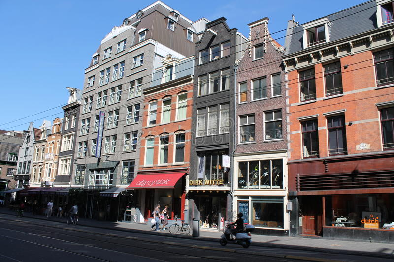 Street in Amsterdam stock photography