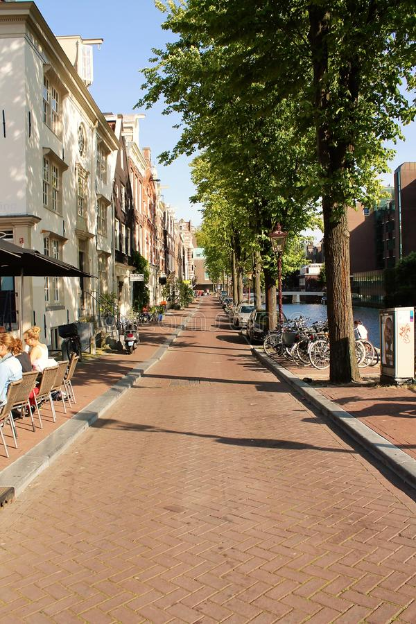 Street in Amsterdam royalty free stock photos