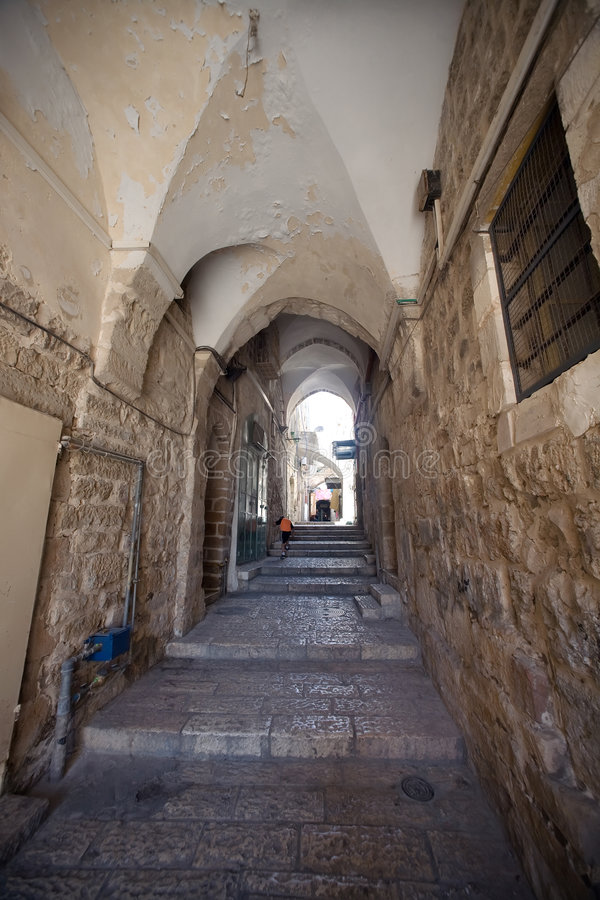 Download Street In The Arab Quarter Of The Old City Of Jeru Stock Image - Image: 5950991
