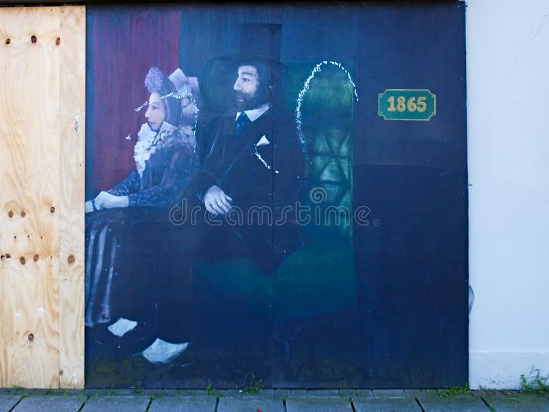 Street art - Bangor royalty free stock photo