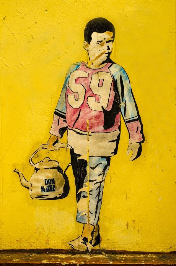 Street art in Belgium stock image