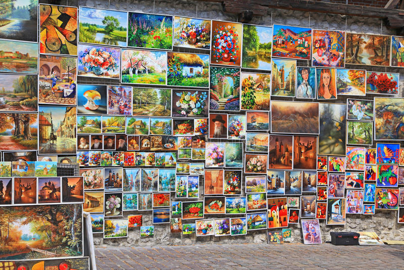 Street art in city Cracow, Poland royalty free stock image