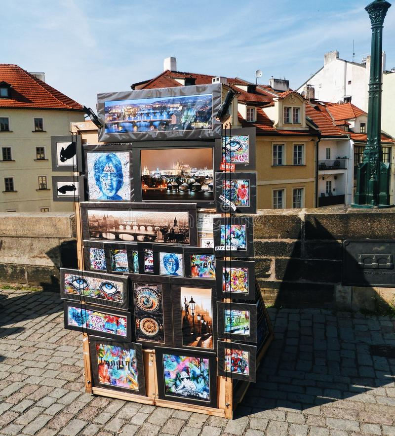 Street Art in the city - Prague, Czech royalty free stock photo