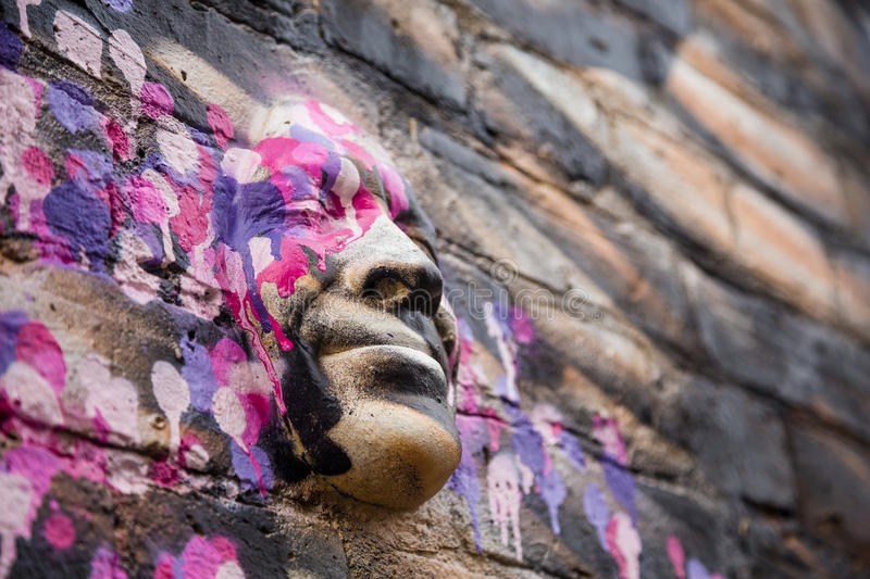 Download Street art - 3d head editorial photography. Illustration of paint - 60445292