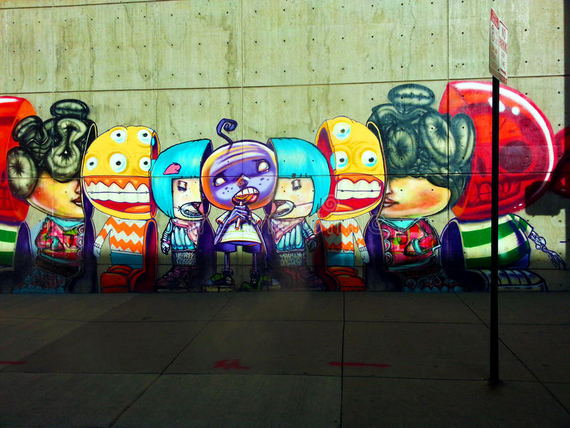 Street Art in Downtown Denver stock images