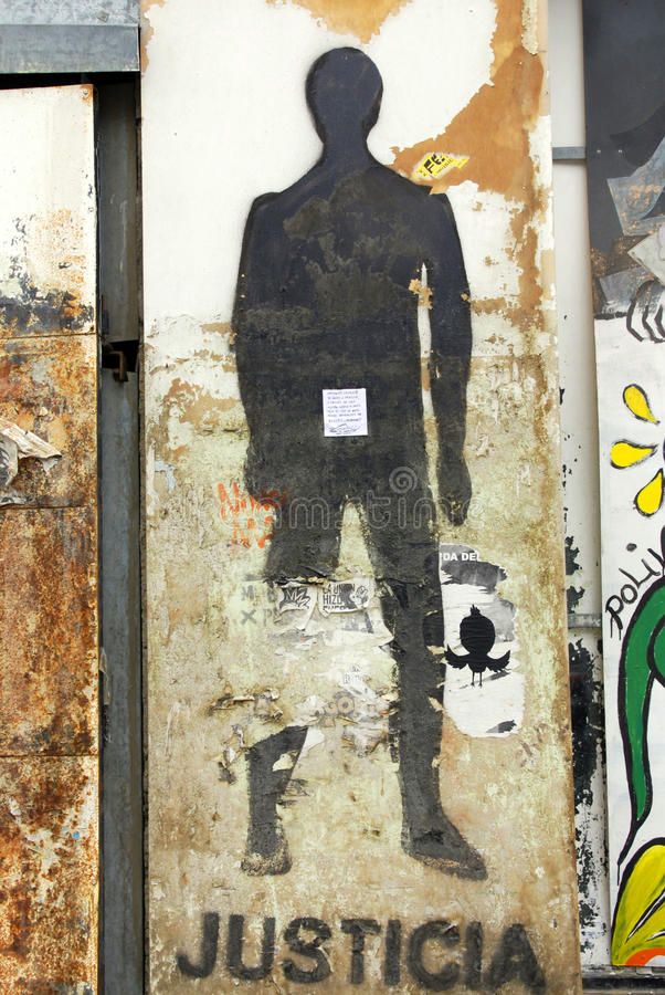 Street art downtown Ushuaia stock photography