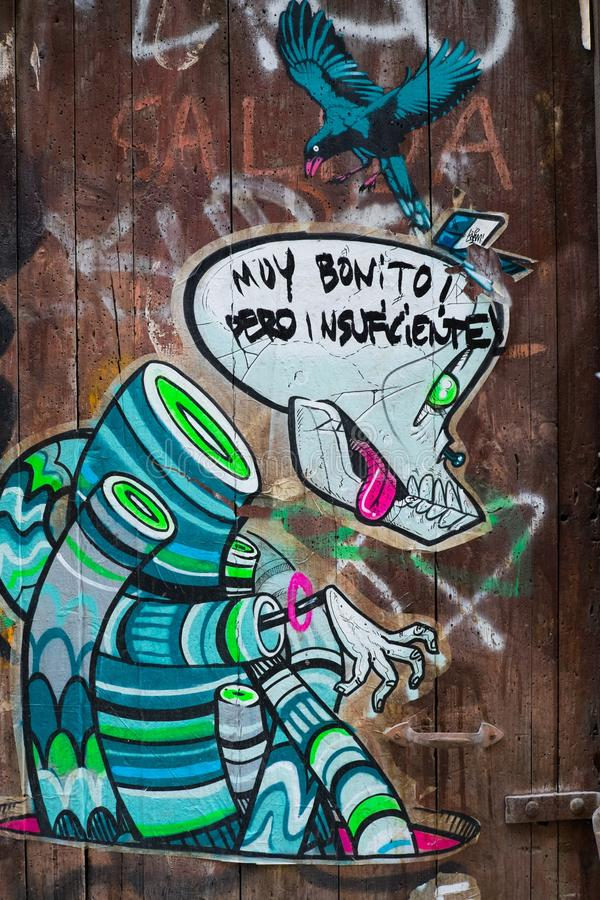 Street Art At El Born District, On March 22, 2013 In Barcelona, Spain Royalty Free Stock Photo