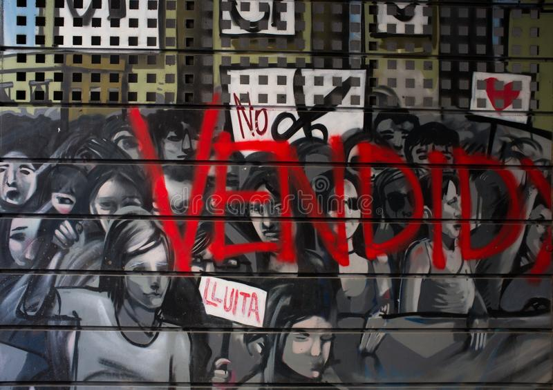 Download Street Art At El Born District, On March 14, 2013 In Barcelona, Spain Stock Images - Image: 33818194