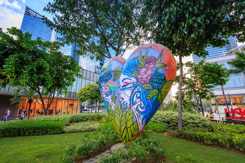 Street art of High street at Bonifacio Global City on Sep 1, 2017 in Taguig, Manila, Philippines royalty free stock photo