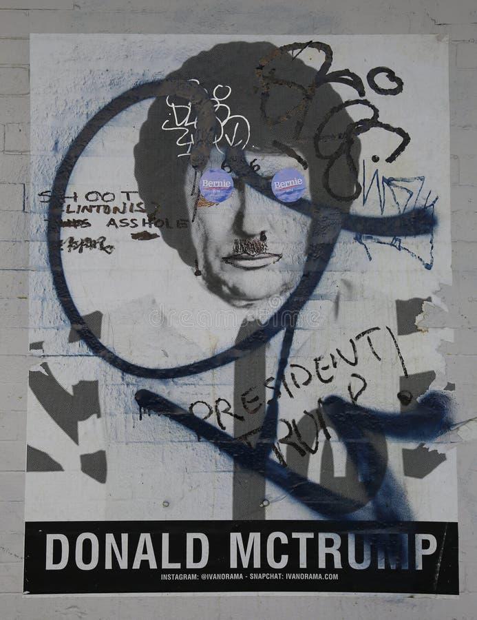 Street art at Houston Avenue in Soho royalty free stock photo