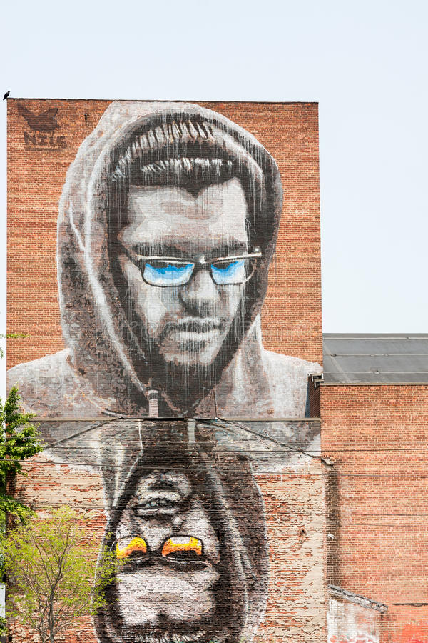 Street Art in the Hudson Valley stock images
