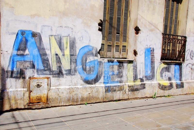 Street art in La Boca neighborhoods. BUENOS AIRES NOV 24: Street art in La Boca neighborhoods on November 24, 2011 in Buenos Aires. The walls of the Argentine stock image